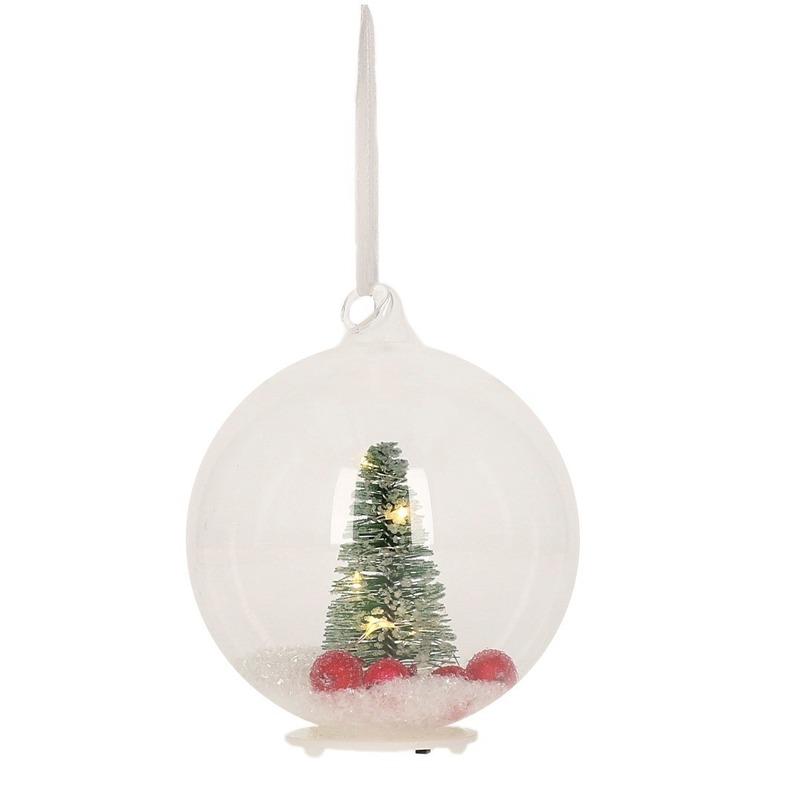 Halloween Plastic transparante kerstbal met LED verlichting in de ...